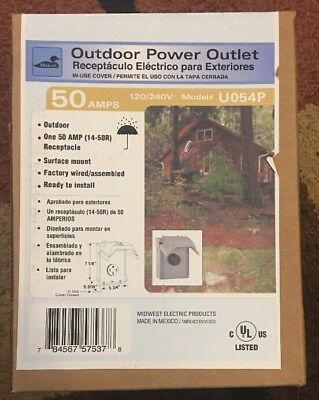 RV Power Outlet Box 50 Amp