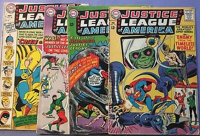 Justice League of America, lot of 4 comic Books, #s 33, 36, 37, and 38