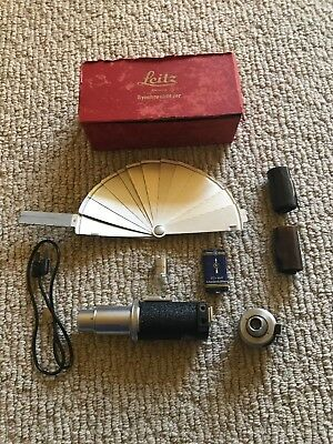 Vintage Leitz  Synchronblitzer Camera Flash Unit, Cord, Bulb & Box