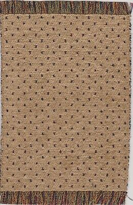 """Dollhouse Miniature Woven Accent Rug in Rust /& Grey Blue Colors  9/"""" x 5 3//4/"""""""