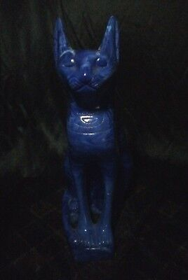 ANCIENT EGYPTIAN BASTET EGYPT Antique Ubasti BAST CAT STATUE Stone Goddess BC