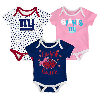 6a7e00e602b NEW YORK GIANTS Bodysuits Rompers baby infant  3 pack   free ship ...