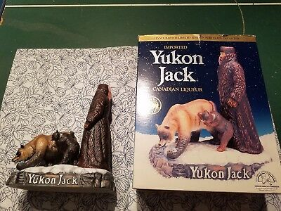 Yukon Jack & Bear 1986 Porcelain 100 Proof Canadian Whiskey Collectible Decanter
