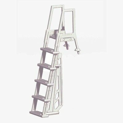 Heavy Duty Above Ground Non-Skid Treads Climbing Child- Proof Pool Steps Ladder