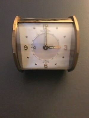 LeCoultre miniature 8 day alarm clock Swiss made partially working