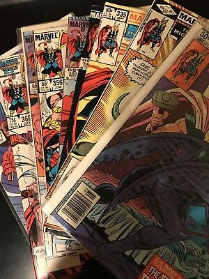 The Mighty Thor Marvel Comics Lot 307 321 334 335 336 352 355 356 357 369 377