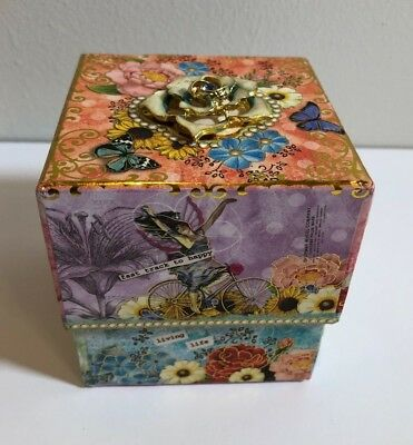 Punch Studio Music Box with Rose Soap Strauss' Blue Danube Waltz ~ NEW!