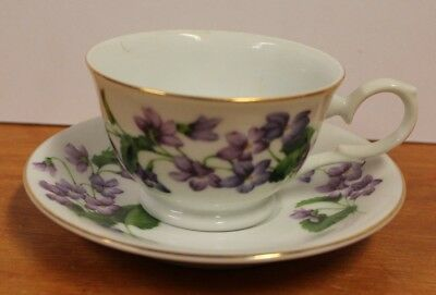 Avon Blossom of the Month Cup Saucer February Violet