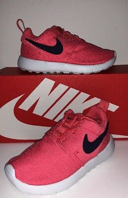 54f8fc390f48 NEW NIKE ROSHE One (Tdv) Girls Toddler Shoes Ember Glow white Sz 8C ...