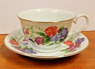 Avon Blossoms of the Month Cup Saucer April Sweet Peas