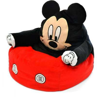 Mickey Mouse Chair Bean Bag Plush Toy Kid Toddler Bedroom Furniture Disney  Couch