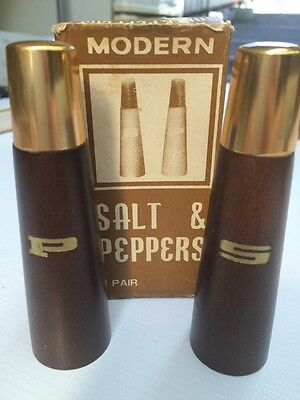 Retro Salt And Pepper Set Salt & Peppers Modern Hardwood Shakers 1 Pair Japan