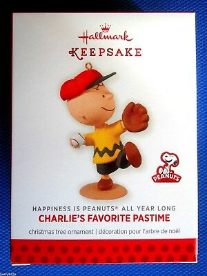 HALLMARK 2014 CHARLIE BROWN FAVORITE PASTIME PEANUTS #11 Monthly ORNAMENT-MIB