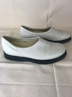 244c4b60467 Hogan White Leather Slip On Flat Shoes Women s Size 37.5 Made In Italy