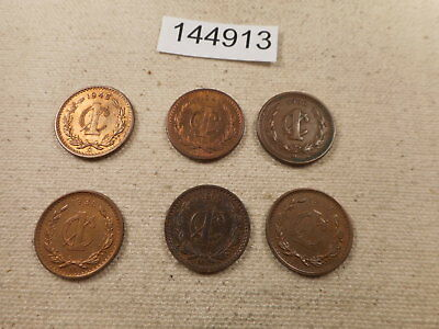 Six Mexico One Centavos Mix - 1900-1940's Nice Unslabbed Album Coins - # 144913