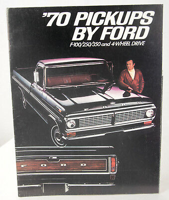 Ford Pickups 1970 Model Year Sales Brochure. F-100 F-250 F-350 Ranger XLT