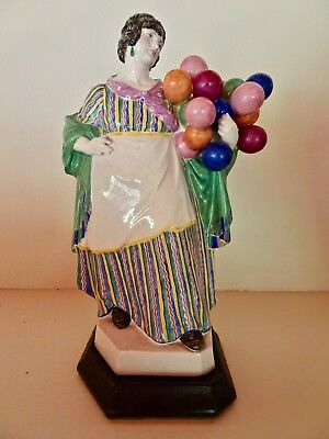 Antique Charles Vyse Chelsea Studio Pottery Figure Balloon Seller Signed Dated