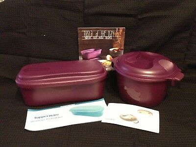 Genuine Tupperware Aussie Seller Microwave Rice Cooker & Pasta Cooker Set B/New