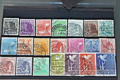 Germany - 1947-48 Allied Occ - Dove Of Peace Issue Complete - Used