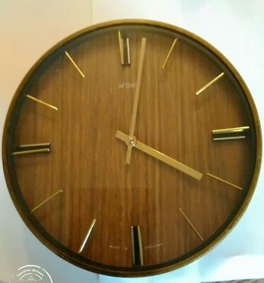 vintage metamec wall clock working