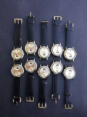 10 Vintage 70S Orion Jump Hour Watches New Old Stock Manual Wind Swiss Retro