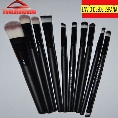Set 10 Make-Up Cosmetic Brush Set Makeup Professional High Quality for Eyes Look