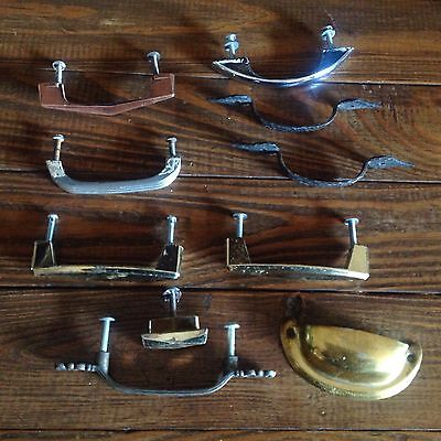 10 Vintage Assorted Lot Cabinet Drawer Pull Handles Art Deco Retro