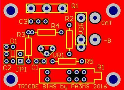 Triode Bias board BARE PCB for 3CX1500 / 8877 / GS31b / GS35b and others