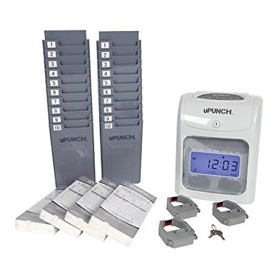 Electronic Punch Card Machine Time Clock Work Hours Payroll Recorder Monitoring