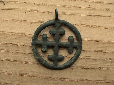 "Large Viking  pendant "" Cross in a circle"". Kievan Rus. Viking. c 10--11 AD"
