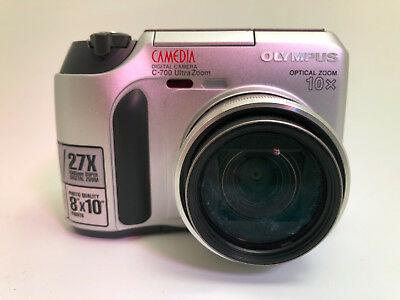 Olympus CAMEDIA C-700 Ultra Zoom 2.1MP Digital Camera - Black & Metallic silver