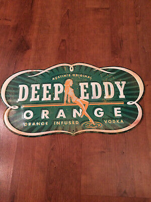 New Deep Eddy Orange Infused Vodka Metal Tacker Tin Wall Sign Free Shipping