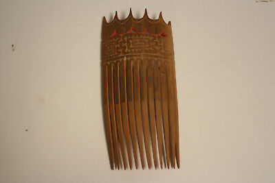 WWII trench art woman's hair comb
