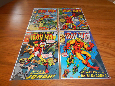 SUPER HIGH GRADE Silver Age Comic Lot Of 4 Iron Man #'s 38,39,40 & 41 VF & Up Cd