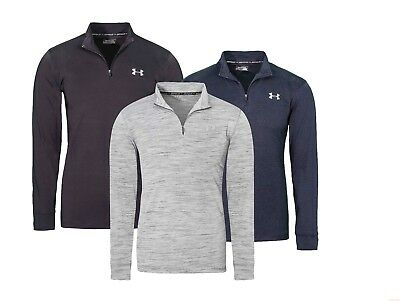 Under Armour UA Men Heatgear Tech Long Sleeve Shirt Tshirt M L XL 2XL 3XL 1/4Zip