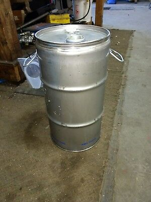 5 Gallon Stainless Steel Drum Closed Top Barrel thick High Quality used.