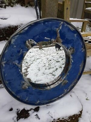 Oil Drum mirror Vintage Industrial Perfect for Man Cave Bar 58cm