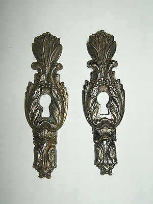 2 Entree Metal Chrome Cisele Pour Tiroir De Commode Art Deco