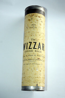 """vintage Dunlop Rubber Company """"THE WIZZAR TENNIS BALLS"""". sealed in tube!"""