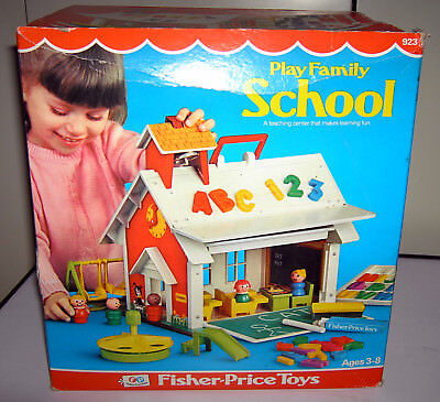 1971 Vintage Fisher Price Toys FP Play Family School # 923 Schule