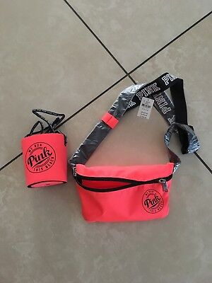 New with tag Victoria's Secret PINK Loozei Koozie Insulator & Fanny Pack Orange