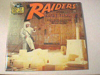 """RAIDERS OF THE LOST ARK - 24 Pg. Story Book & 7"""" RECORD ~ Sealed & Mint ~ 33 RPM"""