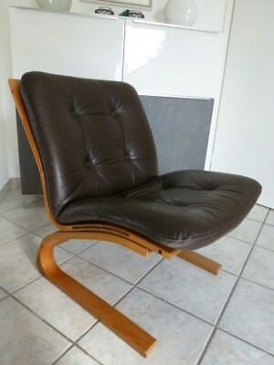"Design Chair "" RYKKEN - Norwegen "" Vintage Lounge Sessel"