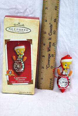 2002 Looney Tunes Hallmark Keepsake Christmas Habitat Tweety Bird Ornament NIB
