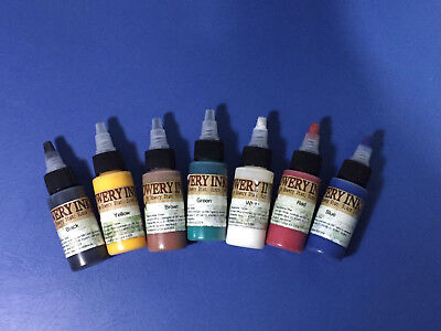 Intenze Ink Bowery Ink Color Set 7 Tattoofarben Tattoo farbe je 1 oz NP 96 Euro