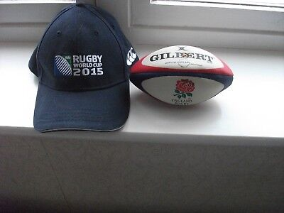 England Rugby Mini Ball And Free World Cup Cap Both New
