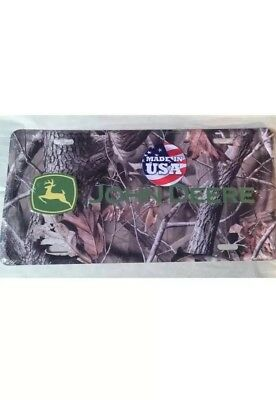 John Deere Tractor Camouflage Camo Metal License Plate Realtree Made in USA