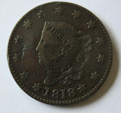 1818 LARGE CENT,  N-4, R4,  Combined Shipping