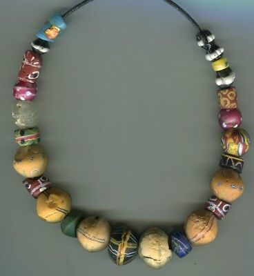 African Trade beads Vintage Venetian glass beads nice mixed old beads well loved