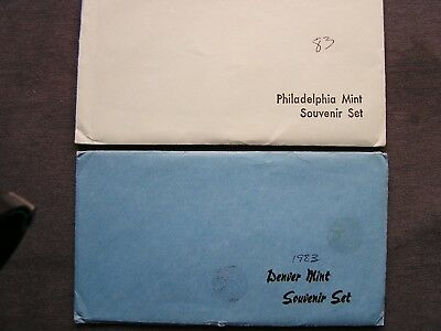 1982/1983 Pd Souvenir Sets From Us Mint